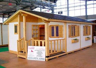 Bungalow prefabbricati for Piccoli bungalow piani casa con garage