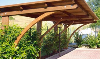Agri legno pesaro urbino gabicce mare prefabbricati for Coperture in legno per auto usate