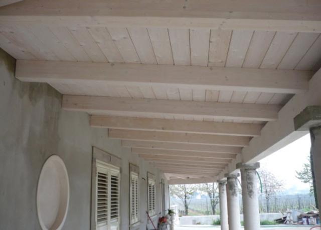 Copertura In Legno Bianco : Tetti in legno in emilia romagna
