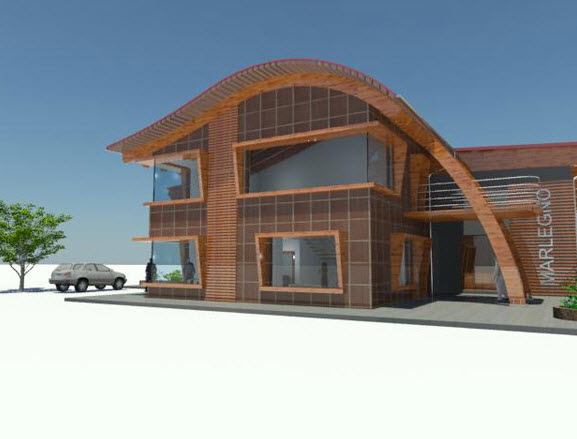 Case prefabbricate in legno a bergamo for Tetti di case moderne