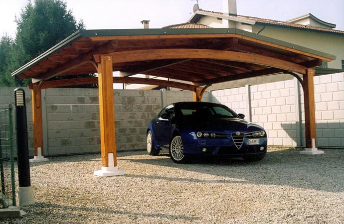 Pergolati e pergole a varese for Carport box auto legno lamellare prezzi
