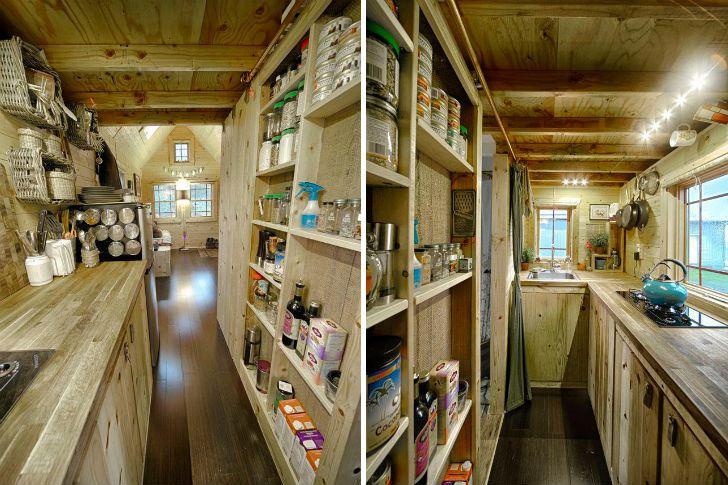 Tiny tack house da washington il micro chalet trasportabile tutto realizzato con il fai da te - Tiny house interni ...