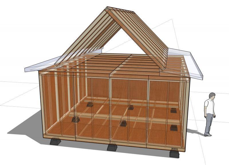 Adattare il progetto di un 39 abitazione con quello di una for Progetto di una casa