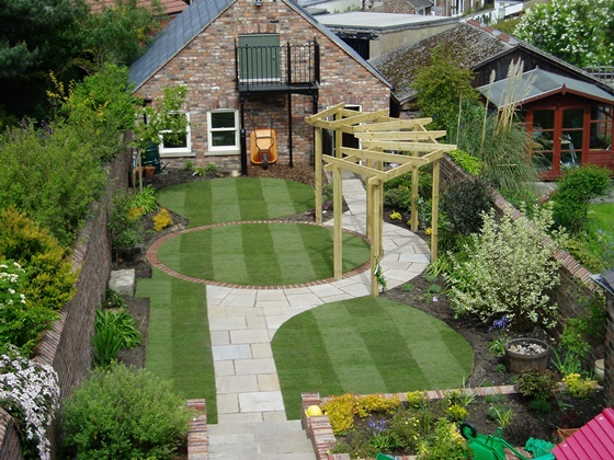 come progettare e arredare il giardino di una casa ecologica - Come Impostare Un Piccolo Giardino