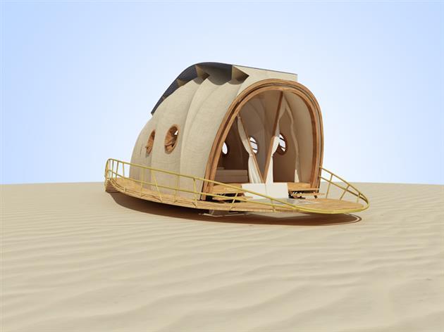 Casa prefabbricata di lusso a forma di bruco for Suite prefabbricata