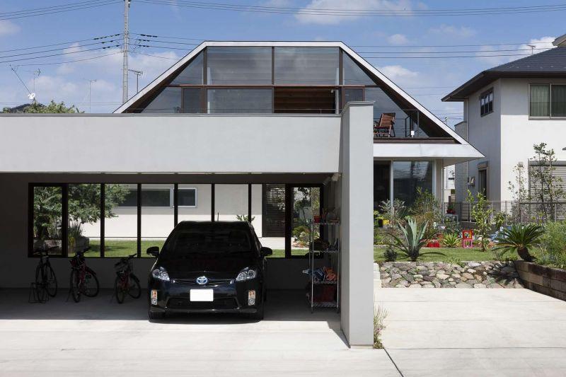 In giappone la prima villa aperta sul paesaggio for Disposizione della casa aperta