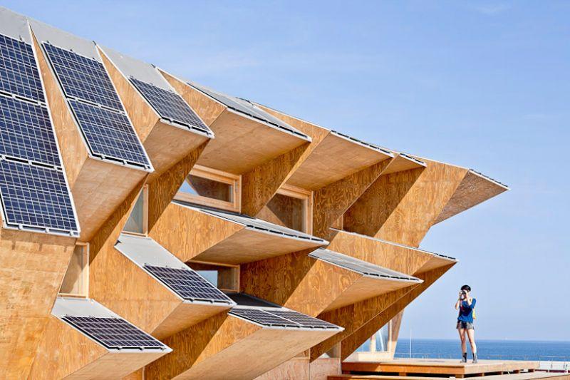endesa solar pavilion il padiglione solare in legno