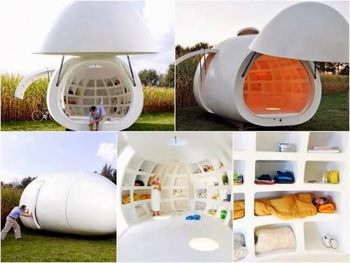 Casa a uovo mobile dmva architecten - Coibentare casa dall interno ...
