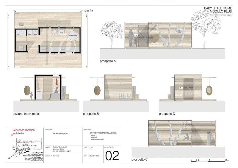 La casetta green dell 39 architetto libardoni vince il - Tavole di concorso architettura ...