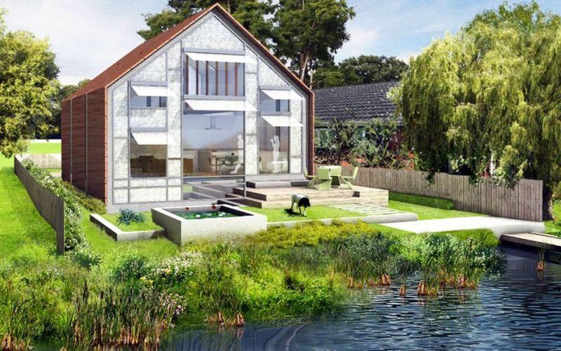 Realizzata nel regno unito la casa anfibia che galleggia for Costruire una casa sulla spiaggia su palafitte