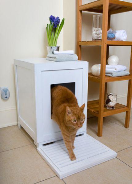 Una lettiera per il gatto travestita da comodino, che farà guadagnare ...