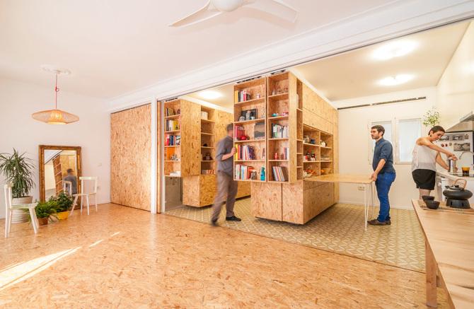 Come rendere flessibili i piccoli spazi con le pareti - Mobili per piccoli spazi ...
