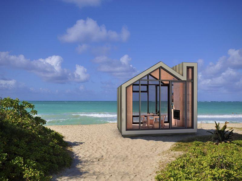 Una mini casa immersa nella natura nasce in canada e si for Disegni moderni della casa sulla spiaggia