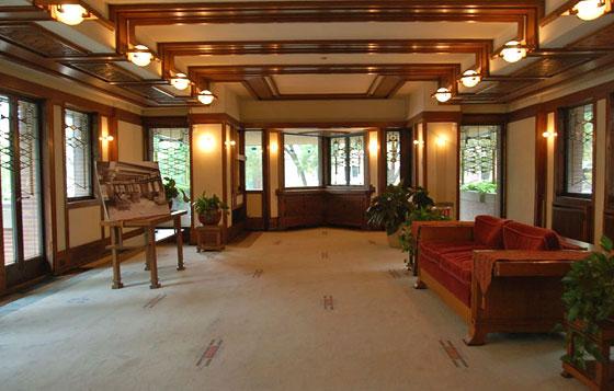 Le prairie house che insegnano all 39 uso del legno per le for Frank lloyd wright casa della prateria