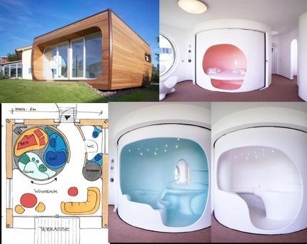 rotor house la casa prefabbricata salvaspazio firmata luigi colani. Black Bedroom Furniture Sets. Home Design Ideas