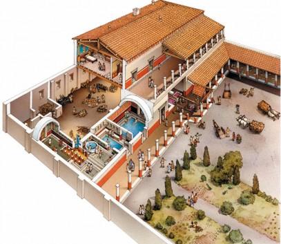 L 39 abitazione a roma domus insulae e villae storia dell for Una storia passiva piani di casa solare