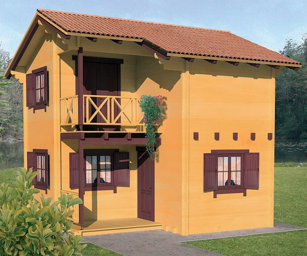 Le dimensioni minime e massime delle case ecologiche in for Kit di casa a 2 piani
