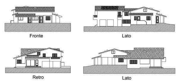 Prospetto casa moderna decorare la tua casa for Disegni di uffici di garage