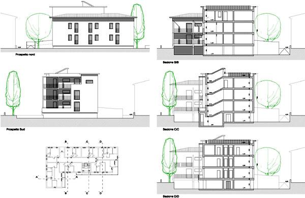 Il social housing abitazioni con sistemi prefabbricati in for Piani a pianta singola da 5 piani