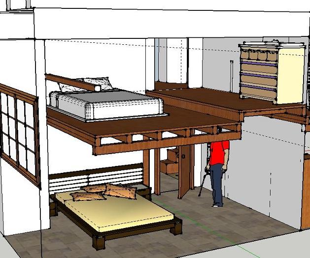 Il soppalco prefabbricato in legno come sceglierlo e for Costo per costruire un armadio in una camera da letto